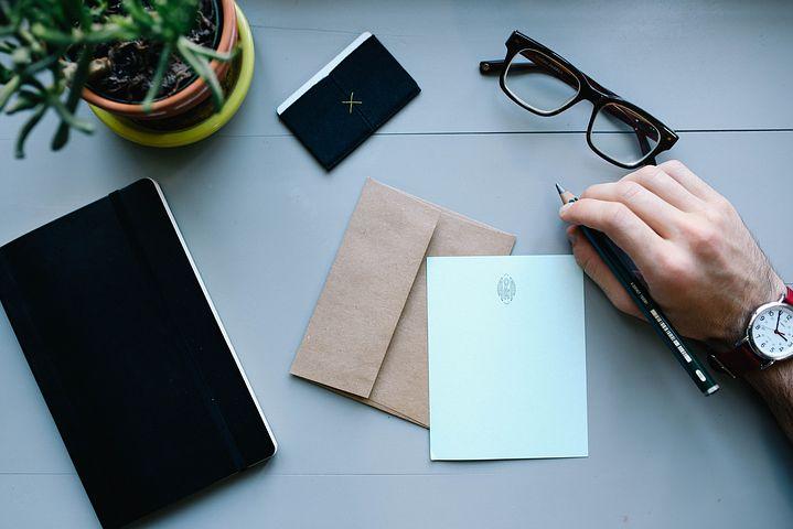 Füller für einen Brief